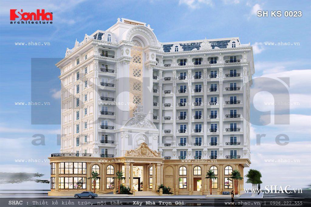 Công trình thiết kế khách sạn 5 sao với mặt tiền rộng đẳng cấp tại Phú Quốc