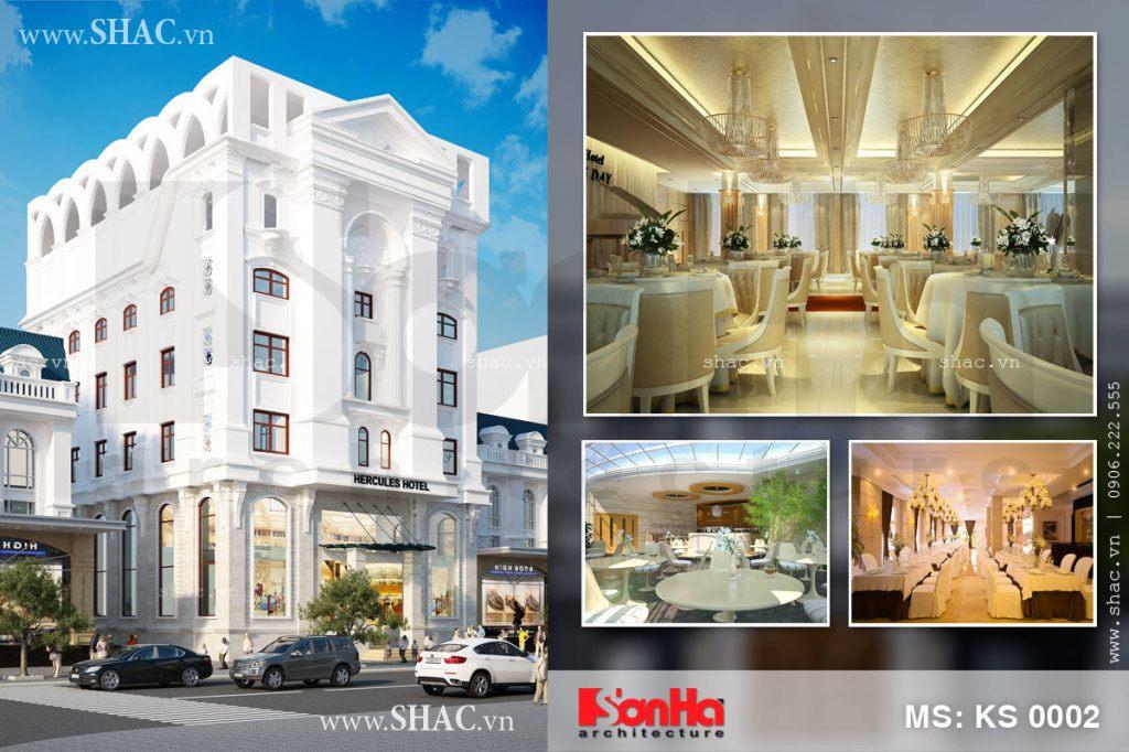 Toàn cảnh kiến trúc và nội thất khách sạn 2 sao 7 tầng có mặt tiền 20m ấn tượng tại Hải Phòng
