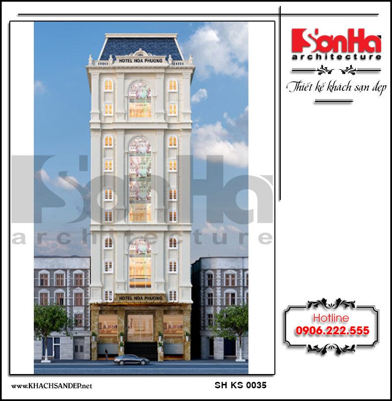 Không gian mặt tiền khách sạn 3 sao phong cách cổ điển rạng ngời chinh phục mọi ánh nhìn