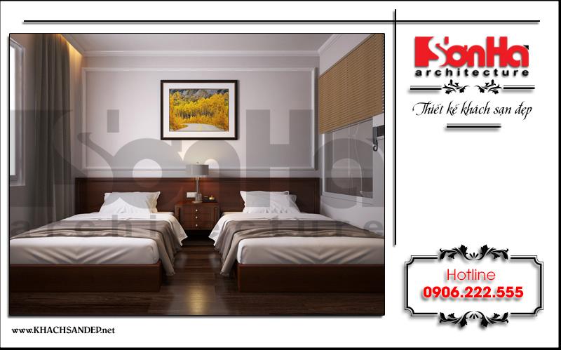 Màu sắc trang nhã luôn là sự lựa chọn trong thiết kế của rất nhiều mẫu phòng ngủ khách sạn cao cấp