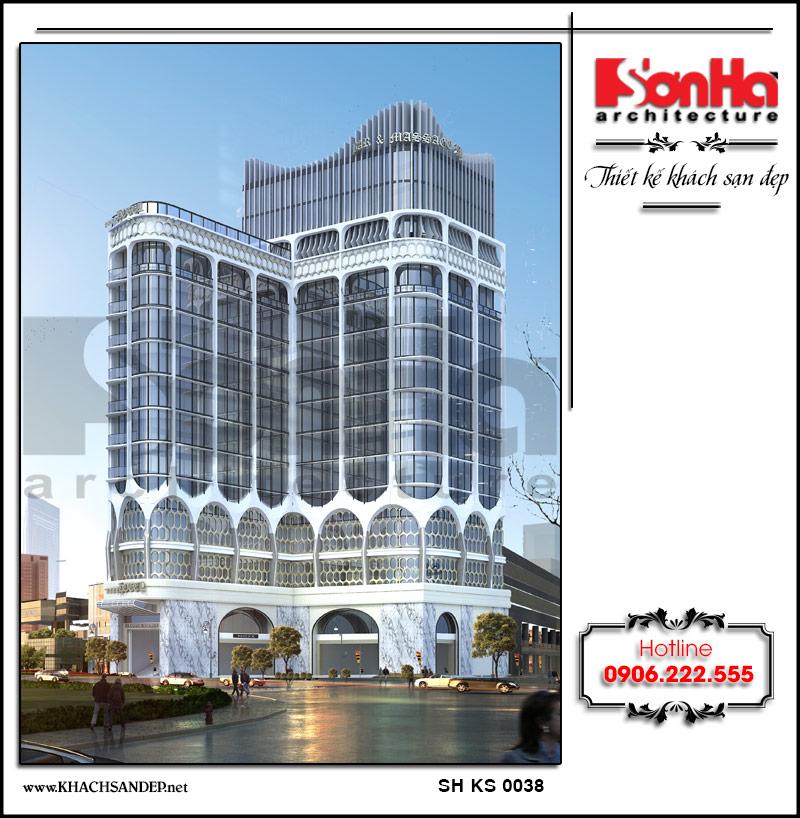 Say đắm trước công trình thiết kế khách sạn đạt tiêu chuẩn 4 sao được xây dựng với diện tích rộng, đảm bảo công năng