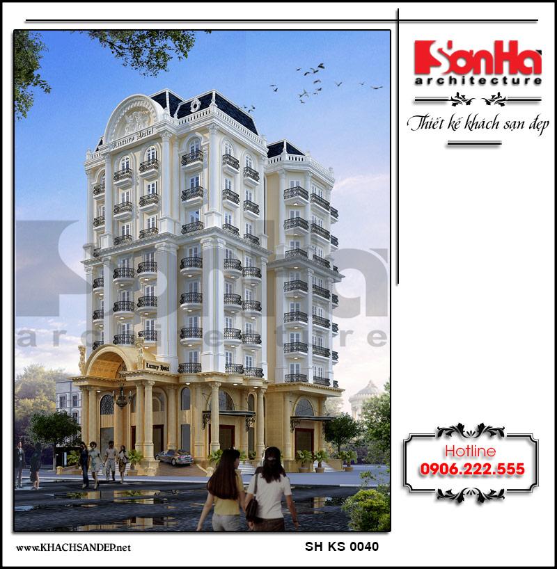 Phối cảnh thiết kế kiến trúc khách sạn 4 sao mang đậm phang cách cổ điển Pháp khiến ai cũng bị cuốn hút