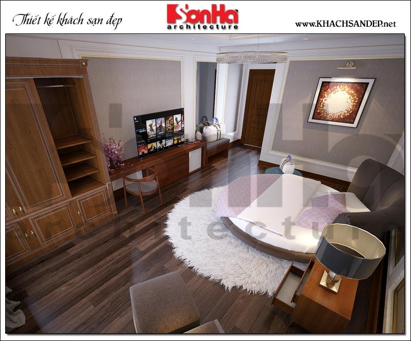Thiết kế nội thất phòng ngủ vip khách sạn 3 sao tân cổ điển tại Vũng Tàu