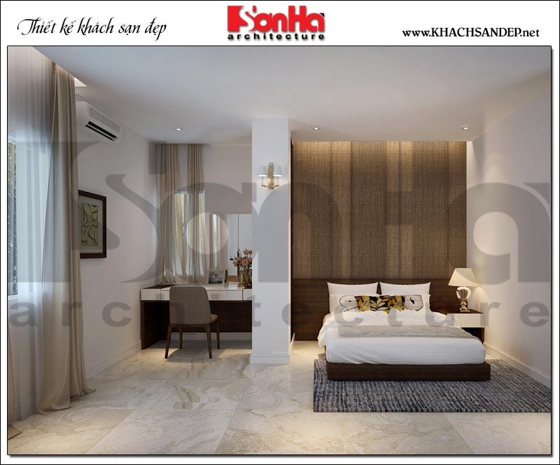 Nội thất phòng ngủ khách sạn 3 sao với thiết kế trang nhã, hài hòa rất được lòng khách hàng