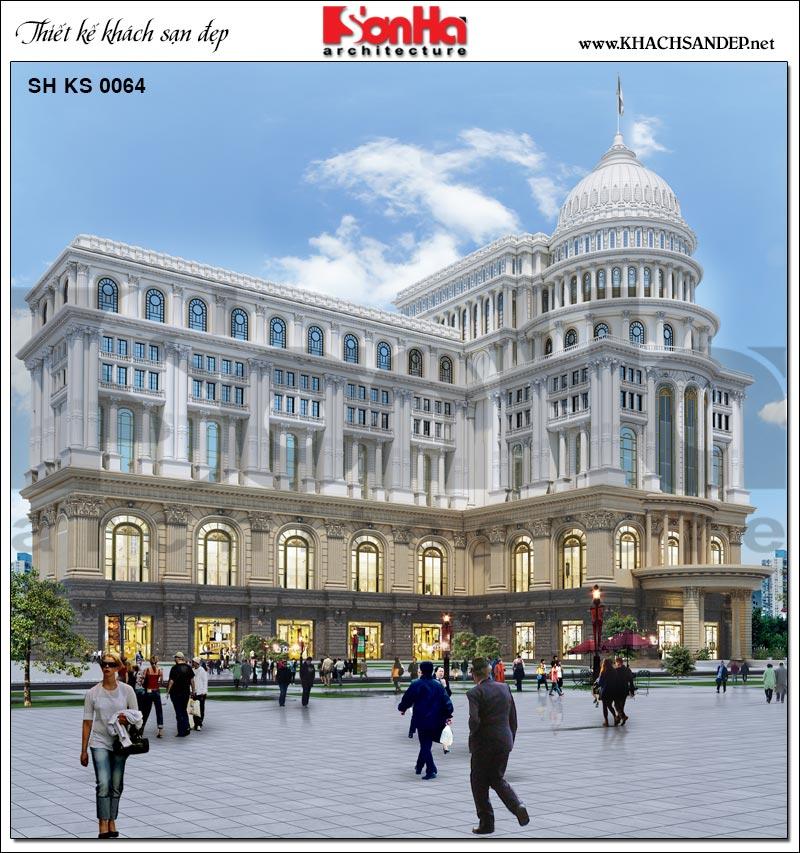 Dự án thiết kế trung tâm phức hợp thương mại, khách sạn 5 sao phong cách tân cổ điển cao cấp tại Đồng Tháp