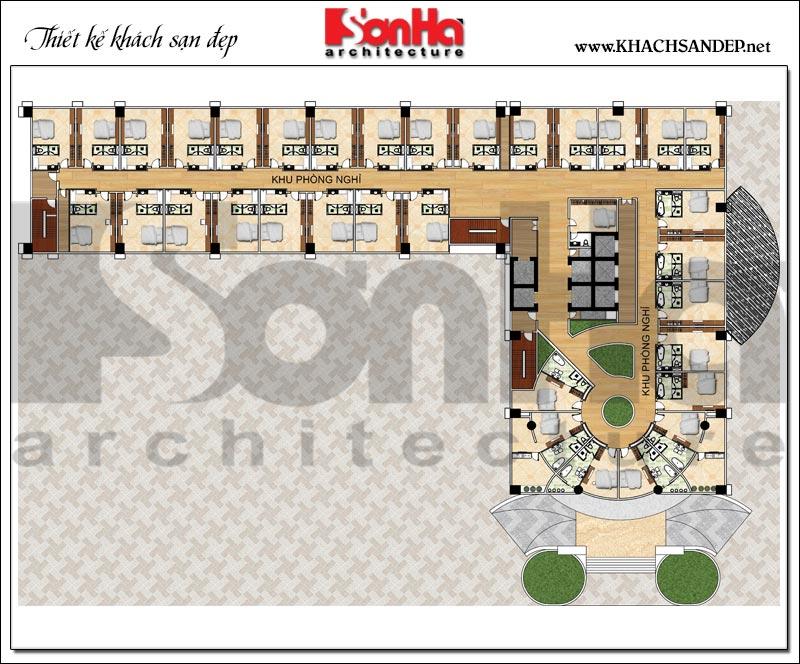 Bản vẽ chi tiết mặt bằng công năng tầng 6 đến tầng 9 trung tâm thương mại, khách sạn 5 sao diện tích 2.420m2 tại Đồng Tháp