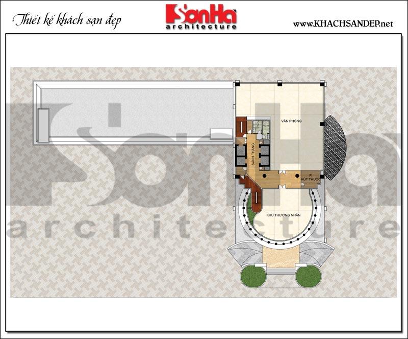 Bản vẽ chi tiết mặt bằng công năng tầng 10 trung tâm thương mại, khách sạn 5 sao diện tích 2.420m2 tại Đồng Tháp