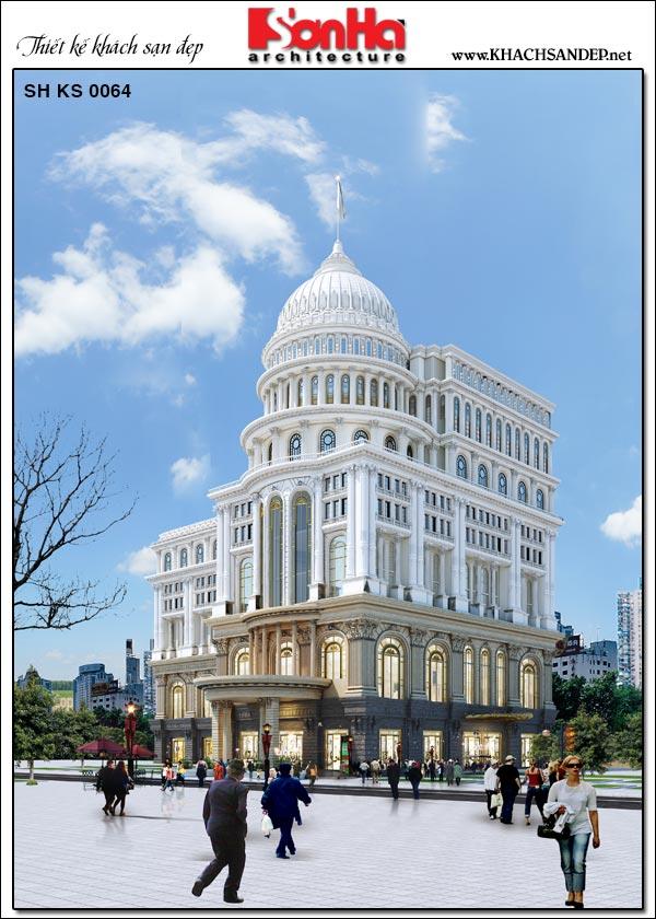 Kiến trúc khách sạn 5 sao tại Đồng Tháp hội tụ những tinh hoa của dòng kiến trúc tân cổ điển sang trọng và đẳng cấp