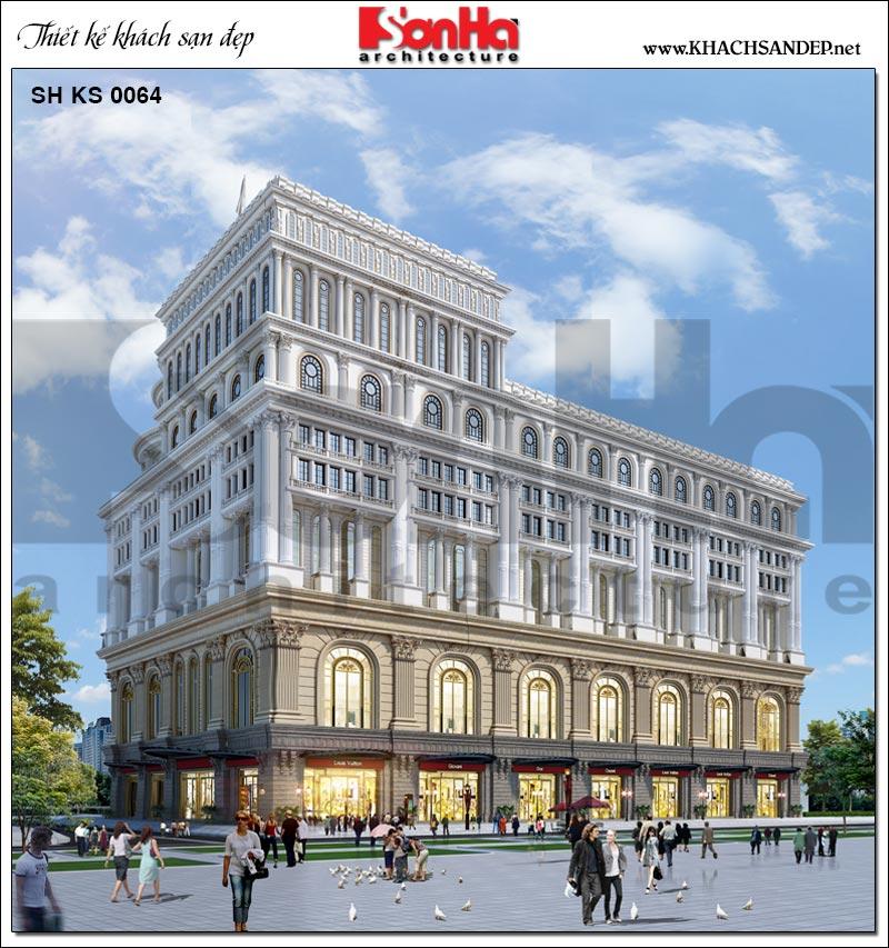 Không chỉ gây ấn tượng bởi kiến trúc mặt tiền, mặt sau của tòa khách sạn 5 sao này cùng nổi bật không kém