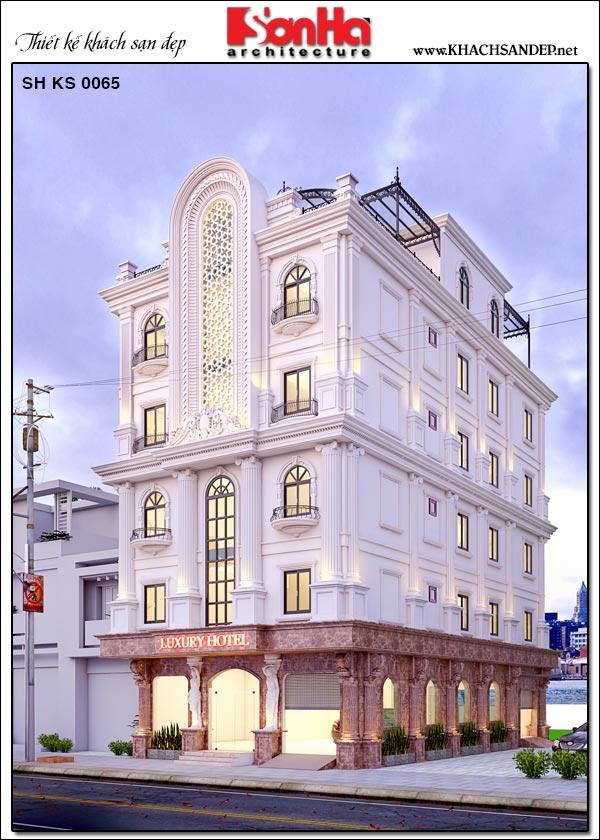 Từ mọi góc đặt mắt kiến trúc tòa khách sạn 5 tầng vẫn thật nổi bật và thu hút