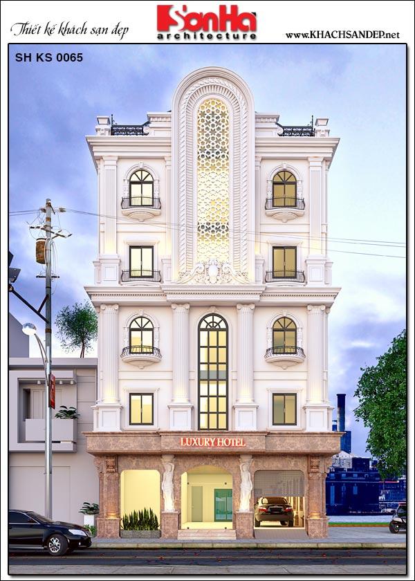 Phối cảnh kiến trúc khách mini tiêu chuẩn 2 sao tiện nghi tại Phú Thọ