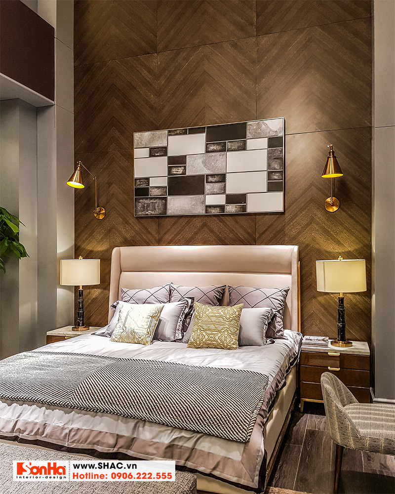 1.Mẫu giường ngủ bọc da cao cấp kiểu hiện đại