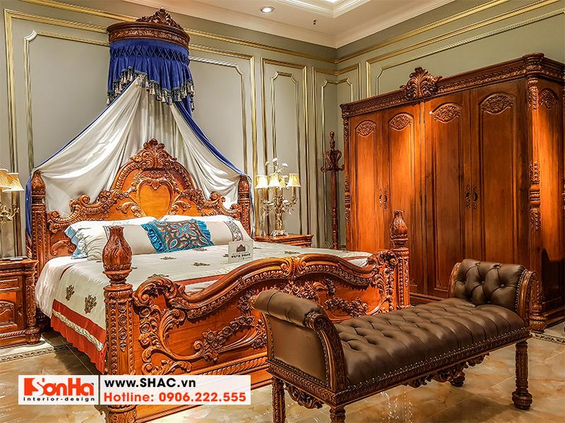 1 Mẫu giường ngủ cổ điển cao cấp