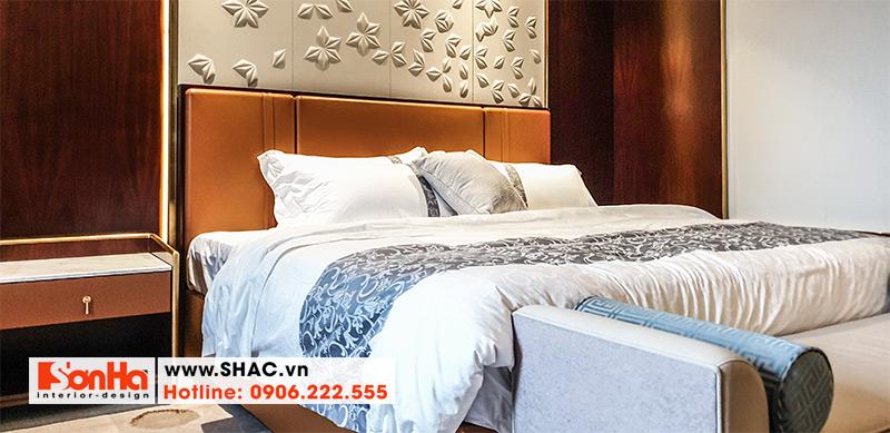 40 Kiểu giường ngủ bọc da phong cách hiện đại