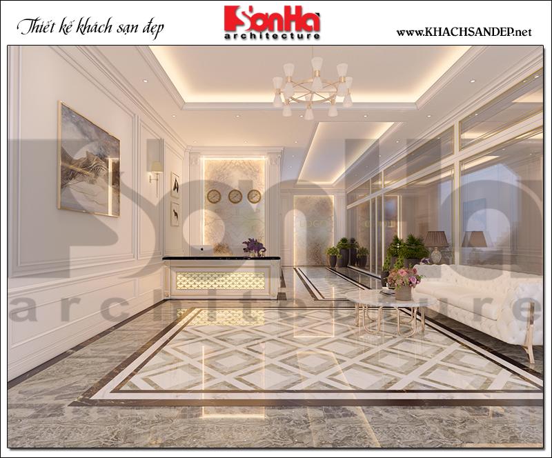 Thiết kế nội thất khách sạn mini hiện đại 2 sao diện tích 10m x 30m tại Bình Dương