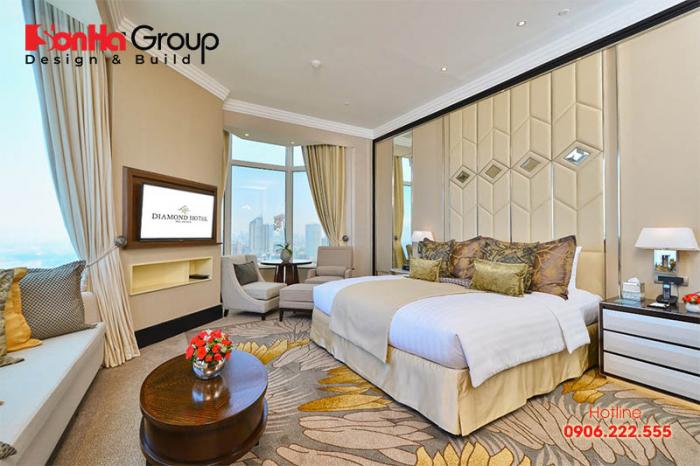 Phòng suite là loại phòng cao cấp nhất khách sạn được đặt ở tầng cao nhất