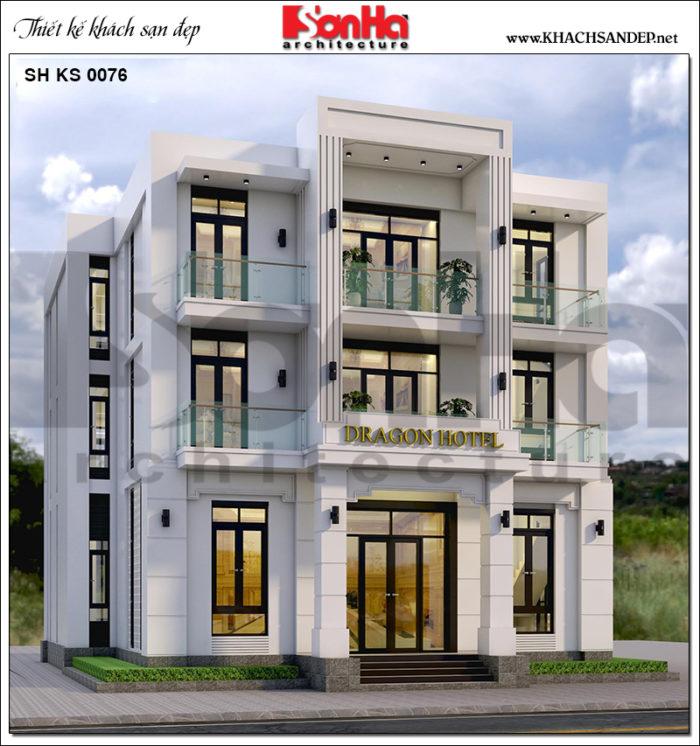 1 Thiết kế khách sạn hiện đại mặt tiền 14,6m tại quảng ninh sh ks 0076