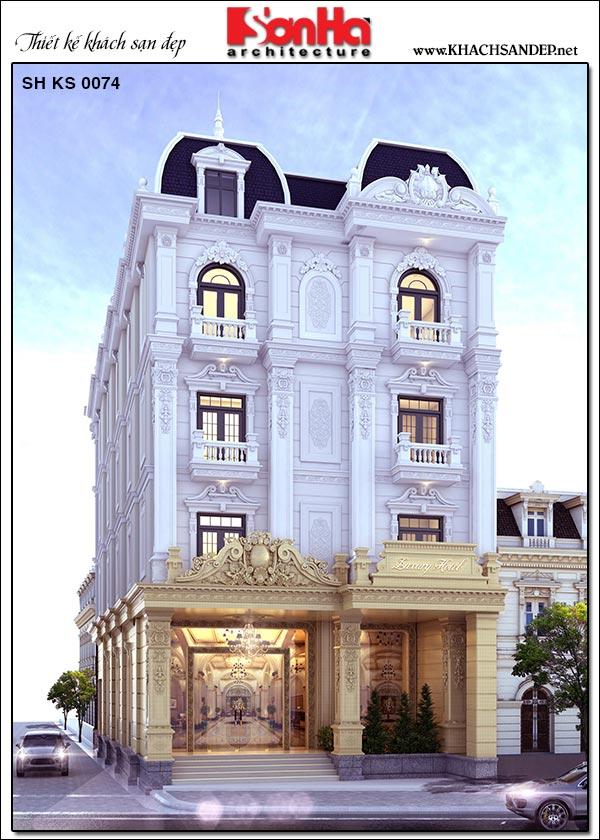 mẫu khách sạn đẹp kiến trúc tân cổ điển tiêu chuẩn 2 sao