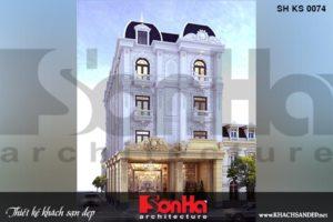 BÌA khách sạn 2 sao 4 tầng 1 tum kiểu tân cổ điển tại phú yên sh ks 0074