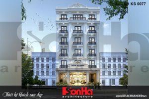BÌA thiết kế khách sạn tân cổ điển 3 sao 6 tầng tại an giang sh ks 0077