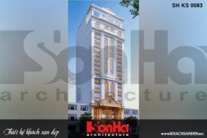 BÌA kiến trúc khách sạn tân cổ điển 3 sao 12 tầng tại lạng sơn sh ks 0083