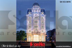 BÌA kiến trúc khách sạn tân cổ điển 3 sao 6 tầng tại hà nội sh ks 0078