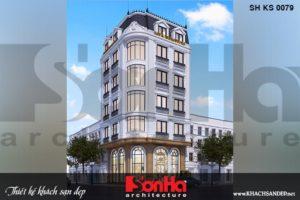 BÌA kiến trúc khách sạn tâng cổ điển 2 sao 5 tầng tại quảng ninh sh ks 0079