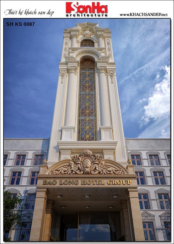 2 Kiến trúc khách sạn tân cổ điển 3 sao tại sài gòn sh ks 0087