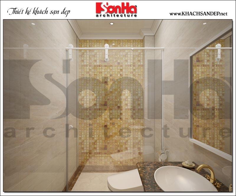 Mẫu nội thất phòng tắm – wc khách sạn với thiết bị cao cấp