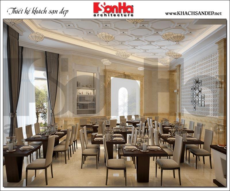 Mẫu nội thất khu buffet khách sạn 3 sao tại Vũng Tàu