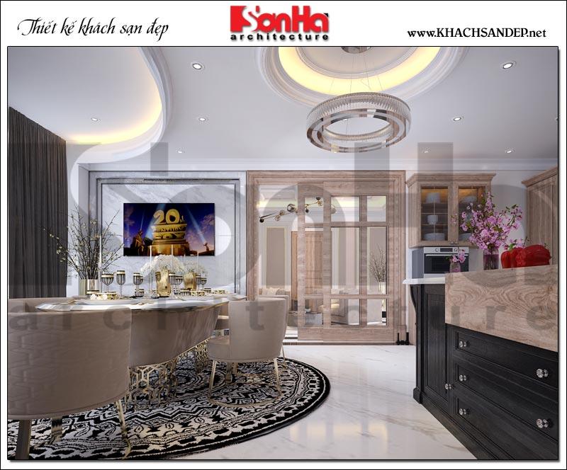Mẫu nội thất phòng khách bếp khách sạn thiết kế đón đầu mọi xu hướng