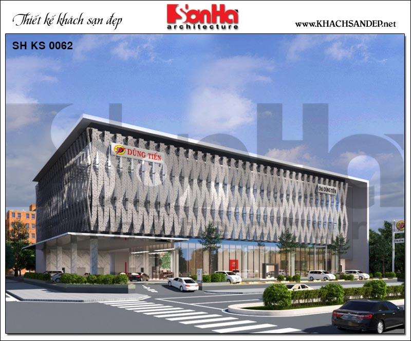 Mẫu thiết kế khu showroom nằm trong tổ hợp Trung tâm TMDV ô tô, khách sạn và văn phòng cho thuê tại Phú Yên