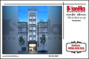 BÌA thiết kế khách sạn mini 8 tầng tại nam định sh ks 0061
