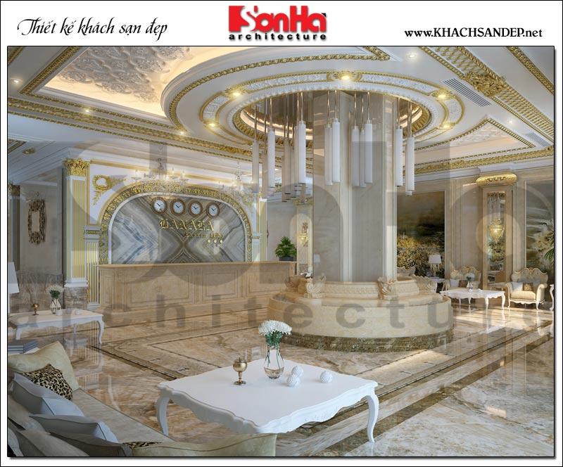 Dự án thiết kế nội thất khách sạn phong cách cổ điển tiêu chuẩn 3 sao cao cấp tại Bắc Ninh