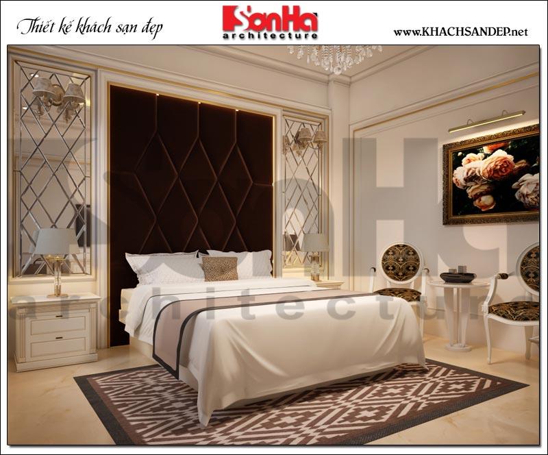 Mẫu thiết kế nội thất phòng ngủ khách sạn 3 sao được trang bị đầy đủ các thiết bị sinh hoạt hiện đại và tiện dụng