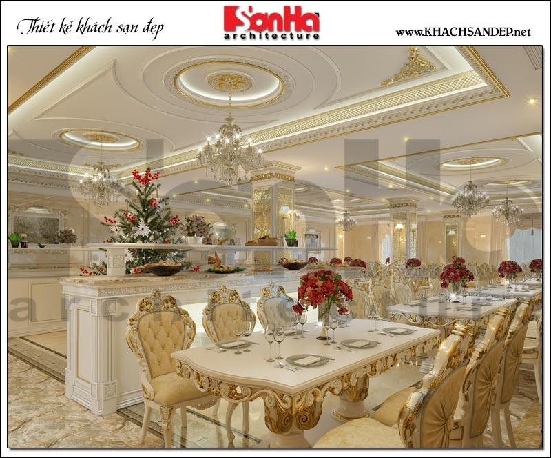 7 Mẫu thiết kế nội thất khu nhà hàng khách sạn cổ điển tại bắc ninh