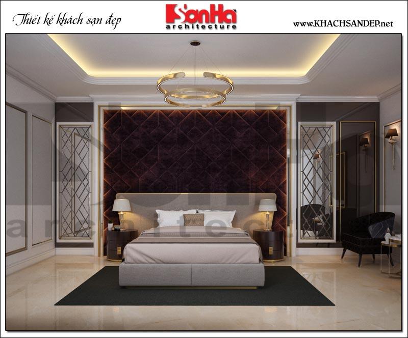 Chiêm ngưỡng mẫu phòng ngủ có thiết kế nội thất cổ điển tinh tế được trang bị đầy đủ tiện nghi trong không gian thoáng cân gió cân sáng hợp lý