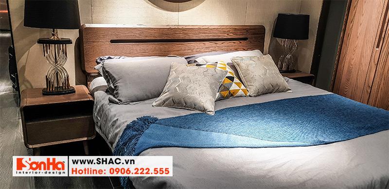 13 Mẫu giường ngủ gỗ thịt thiết kế đơn giản kiểu hiện đại