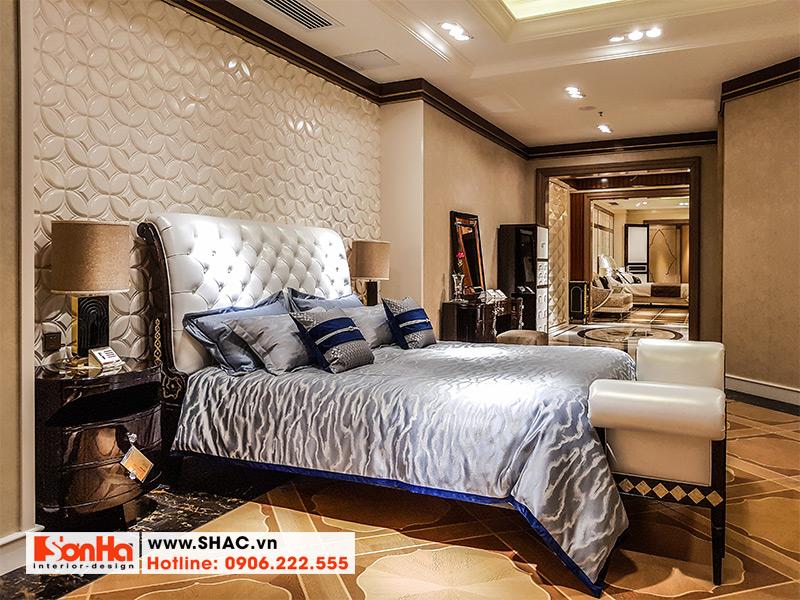 15 Bộ giường ngủ bọc da chất lượng kiểu tân cổ điển