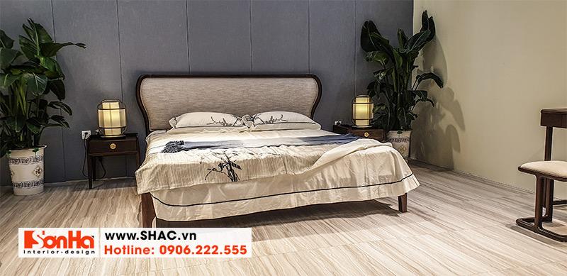 18 Bộ giường ngủ gỗ tự nhiên kiểu tân cổ điển