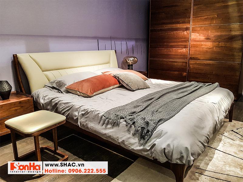 19 Mẫu giường ngủ bọc da phong cách tân cổ diển