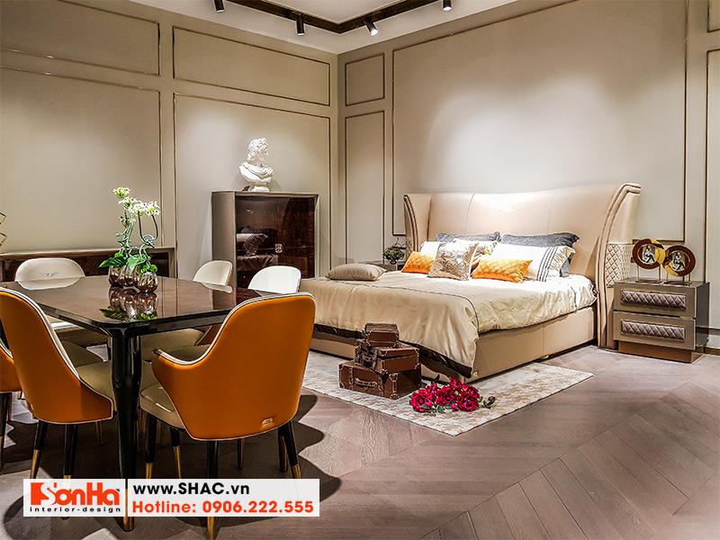 2 Kiểu giường ngủ bọc da đẹp phong cách hiện đại