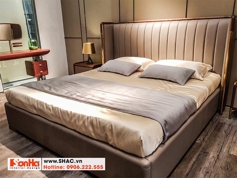 20 Kiểu giường ngủ bọc da tân cổ điển đẹp