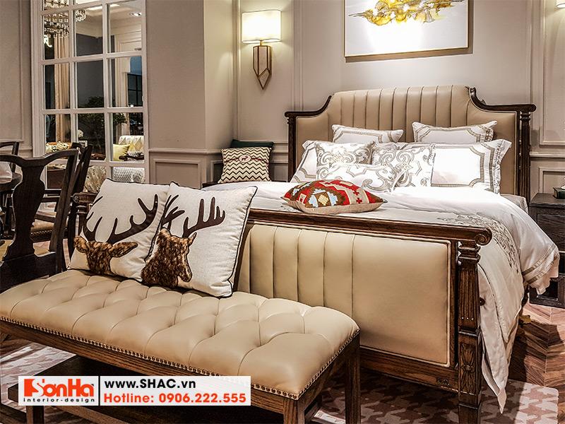 23 Bộ giường ngủ bọc da sang chảnh kiểu tân cổ điển