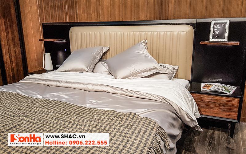 36 Mẫu giường ngủ bọc da đẹp