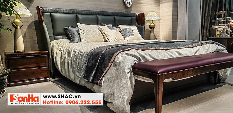 38 Bộ giường ngủ bọc da chất lượng cao