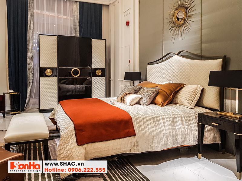 6 Bộ giường ngủ bọc da đẹp phong cách châu Âu