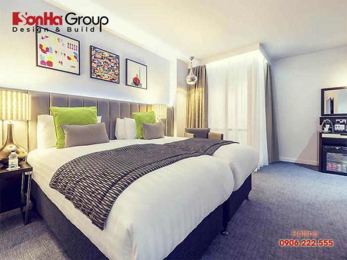 Ý tưởng trang trí phòng ngủ khách sạn đẹp cùng cách bố trí nội thất khoa học, hiện đại