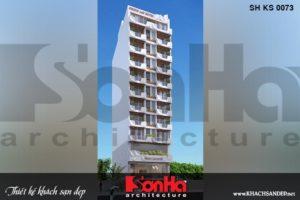 BÌA thiết kế khách sạn 3 sao đại 12 tầng kiểu hiện tại bình định sh ks 0073