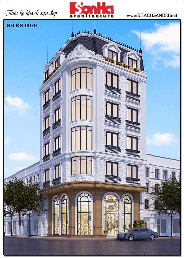 1 Thiết kế khách sạn tân cổ điển mặt tiền 8,5m tại quảng ninh sh ks 0079